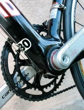 BB30 oversized bottom bracket.