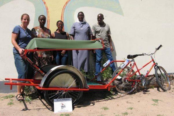 The Bicycling Empowerement Network Namibia bike ambulance.