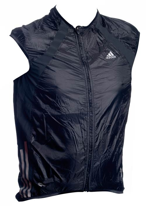 The gilet is a sleeveless, windproof top, designed to keep the wind-chill off your chest