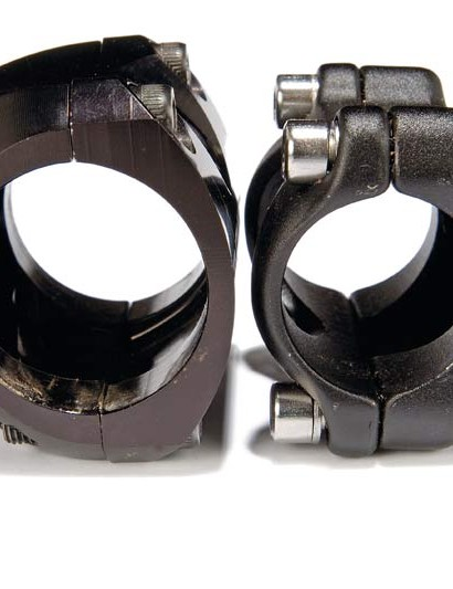 Stem clamps come in two sizes. Large OS (31.8mm) or standard (25.4mm).