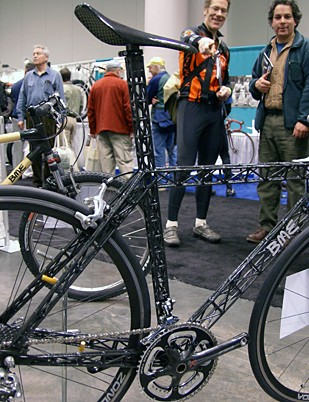 Slovakian builder Brano Meres came to NAHBS with this showstopping C-Thru carbon truss bike