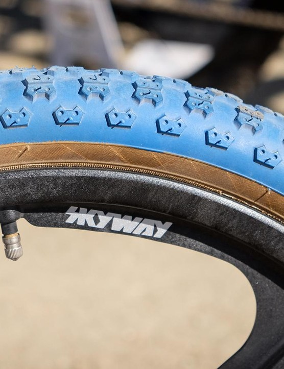 No carbon here: these Skyway rims are constructed from a Nylon composite