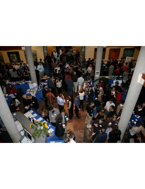 NorCal League supporters mingle at the Mill Valley Community Center November 8.