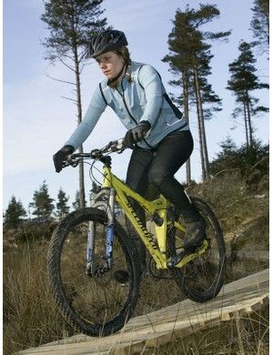 A rider on the Grizedale Forest trail in south Cumbria