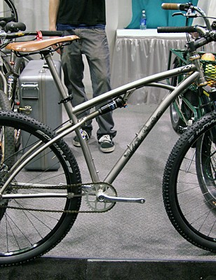 Colorado builder Black Sheep showed off a pivotless titanium full-suspension design