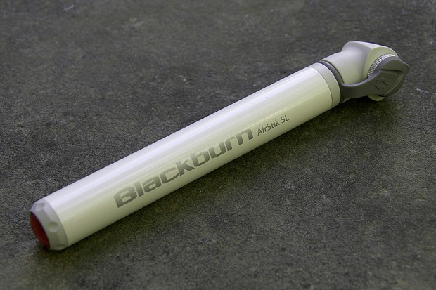 The Blackburn AirStik SL is tiny and light but takes a lot of strokes and effort to inflate road tires to pressure.