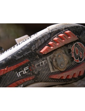 The Race X Lite prototypes we spotted were marked with a 'Silver Series Carbon' label