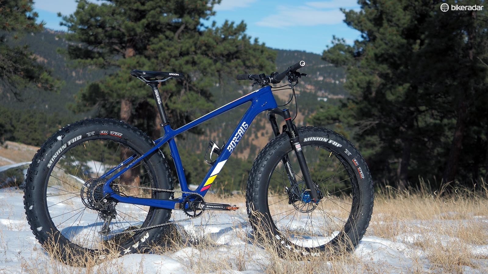 Borealis's new Crestone fat bike carries over its geometry almost identically from the previous Echo but with a 150g-lower claimed frame weight. The gorgeous paint makes it quite the looker, too
