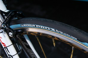 …but it did run Michelin's stickier Pro3 Grip rubber.