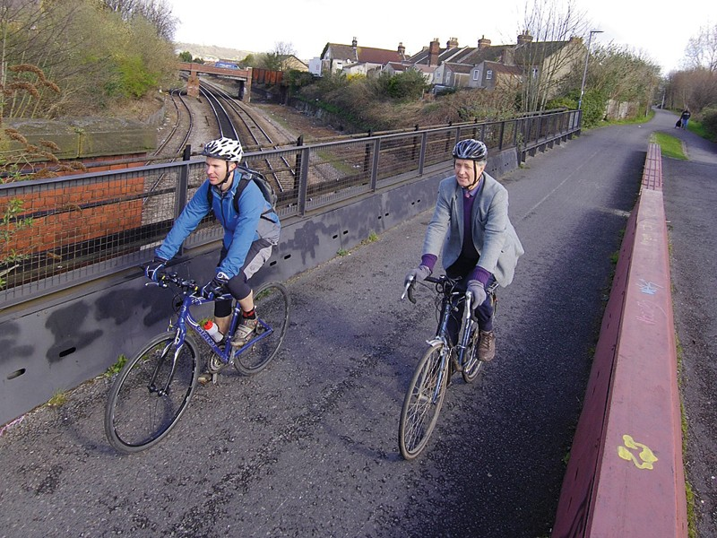 A party is being held to celebrate the Bristol to Bath Railway Path