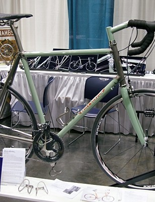 Bruce Gordon's titanium road frame was designed to look like steel