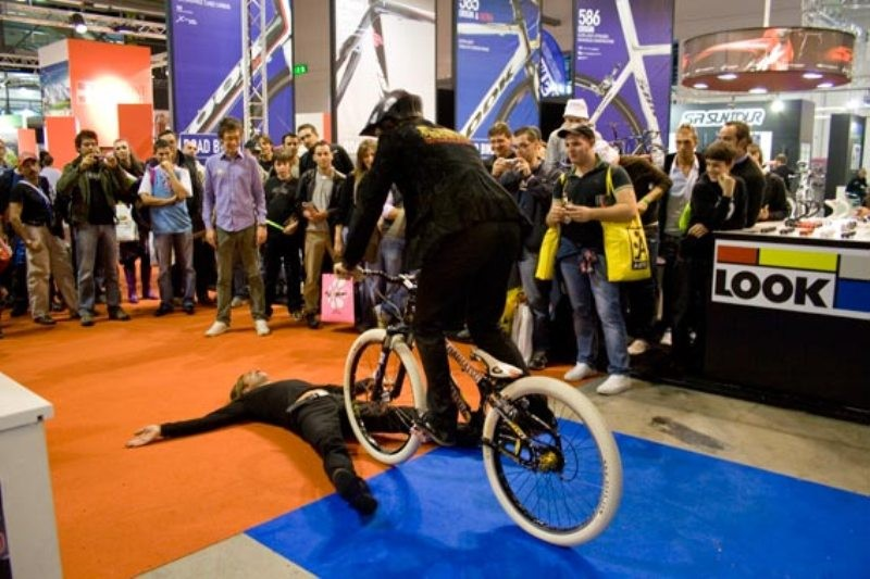 Vittorio Brumotti stunned visitors with his trials shows
