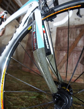 The fork is toughened by a new Kevlar weave...