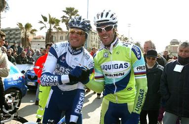 Cycling : Giro della Provincia di Lucca 1st : CIPOLLINI Mario (ITA) Liquigas - Bianchi 3rd : PETACCHI Alessandro (ITA) Fassa Bortolo