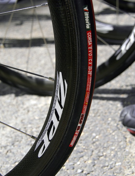 Now even climbing-specific wheels get some aero treatment as well such as the dimpled surface on these Zipp 202 rims.