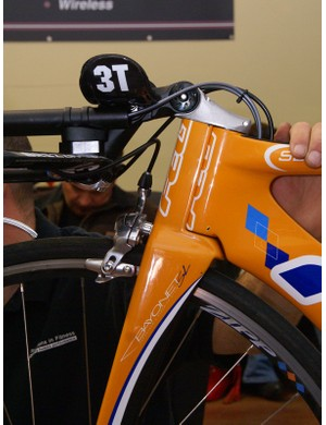 The 3T bar required an extra stem segment to get it low enough for wind tunnel testing. Ultimately, a custom stem and/or fork modification is in order