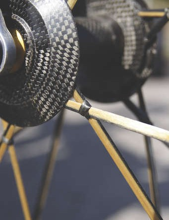 No truing needed – the Lightweight's spokes are  hoops of Kevlar that fold around the rim and hubs
