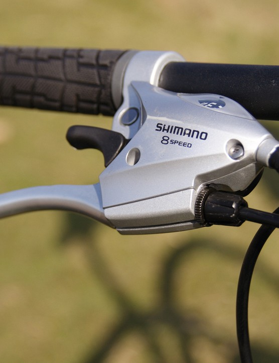 Shimano's STR221 Triple integrated levers have a positive action