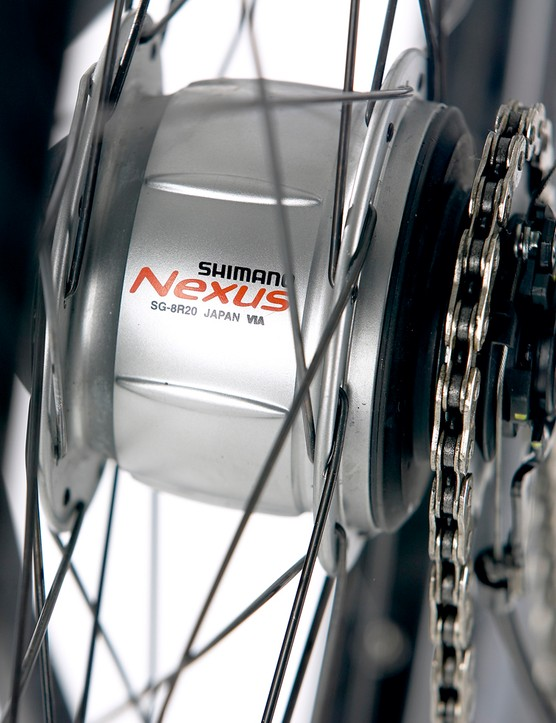 Low maintenance and ease of use makethe Nexus 8-speed hub ideal for city commuters