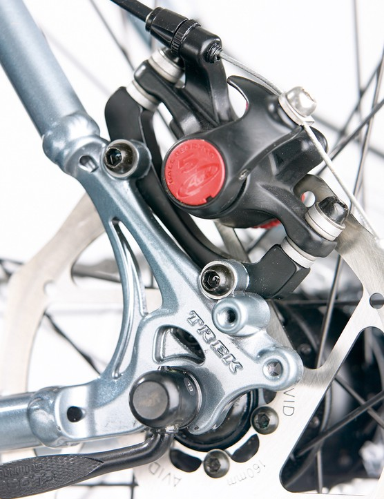 Bulky disc brakes get in the way of fitting a standard pannier rack