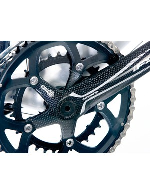 FSA compact chainset makes climbing easier and adds carbon bling