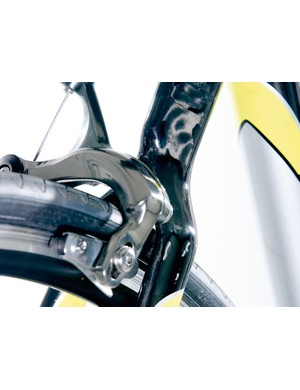 Titan brakes lack pucker power; Shimano 105 would be preferable