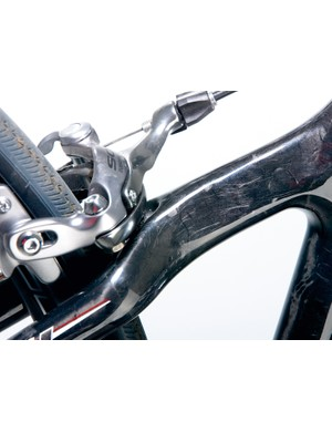 Shimano 105 brakes are welcome for their authoritative stopping power