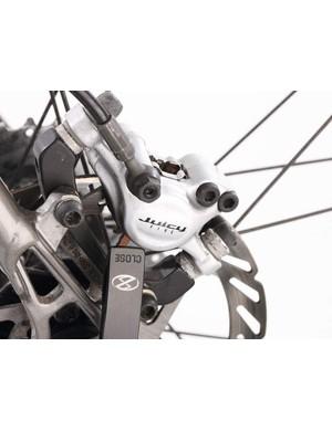 Avid's Juicy hydraulics are great stoppers, but always seem juddery on Boardman frames