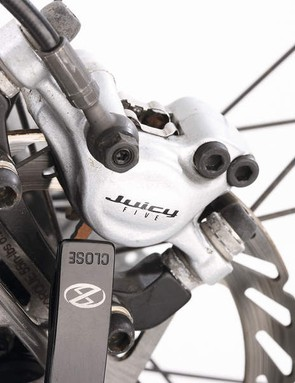 Avid's Juicy hydraulics are great stoppers, but always seem juddery on Boardman frames