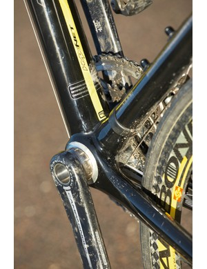 As is the trend for carbon frames, the Addict has a huge bottom bracket area