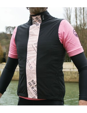 The gilet, which is designed to look like it's got newspaper stuffed down the front