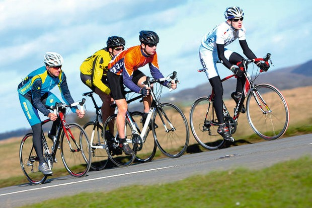 Cycling in a group of cyclists of the same standard will motivate you to raise your game
