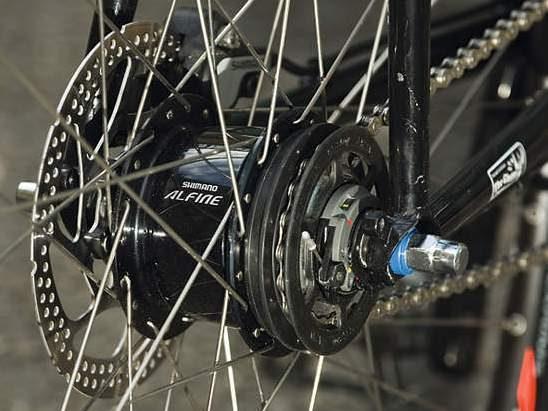 Shimano Alfine SG-S7001 8-Speed Internally Geared Disc Brake 32h Rear Hub Black,