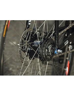 Shimano's Alfine hub is smooth and gives a useful 8-gear range