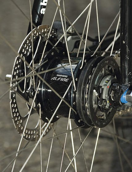 Shimano's Alfine hub is smooth and gives a useful 8-gear range