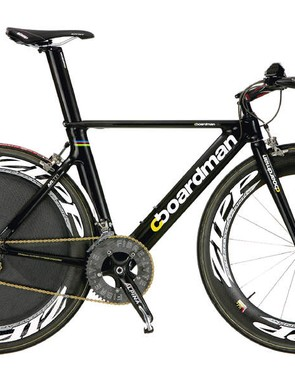 Look familiar? The UK team's track bikes come from the same design stable