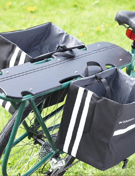the side panniers comfortably hold a weekly shop