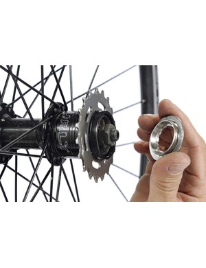 There are several spacing kits available, thanks to the popularity of singlespeed mountain biking.