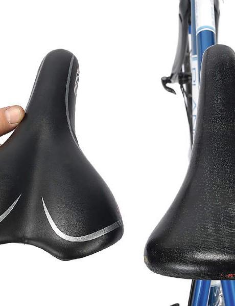 Wider,comfier saddle