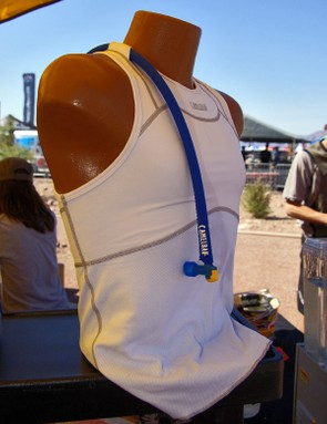 Camelbak's intriguing RaceBak base layer uses 'QuickWick' fabric and a compressive cut around the chest…