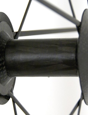 The front hub is also crafted from carbon.