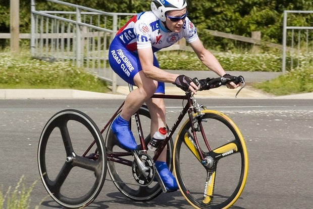 Carl Saint sets new trike competition record