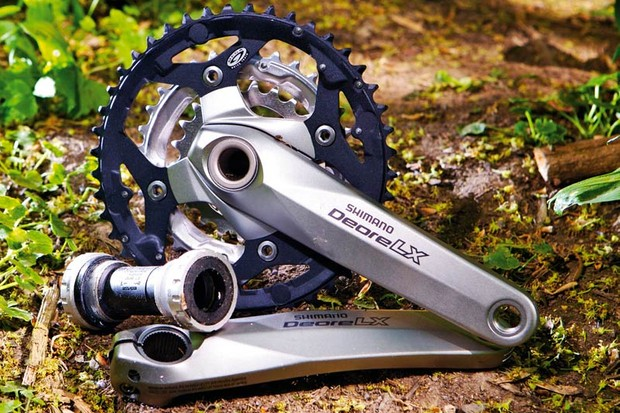 Shimano LX Chainset, 972g (incl BB)