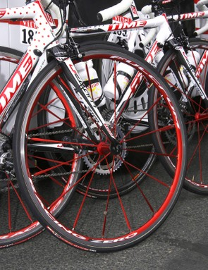 el ran Fulcrum RacingZero aluminum tubulars on stage 7