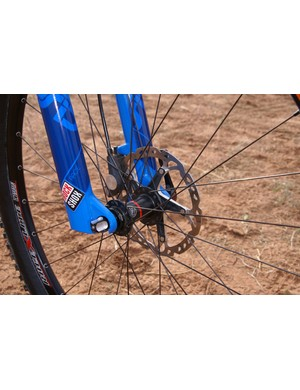 Bontrager offers its wheelsets in both six-bolt and Center Lock varieties, such as seen here.
