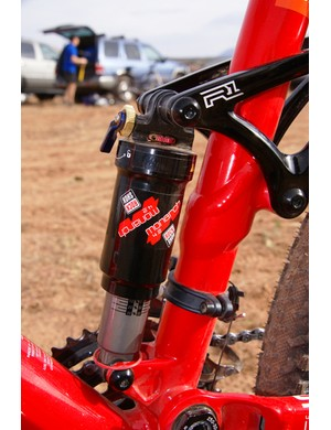 Rock Shox's new Monarch rear shock keeps the rear end firmly planted.