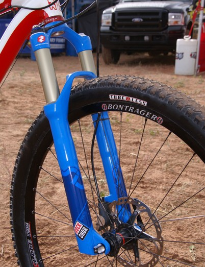 Eatough's Fuel was also fitted with a new Rock Shox SID.