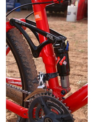 Trek adheres to its tried-and-true rocker link design which it has used since the advent of the Fuel