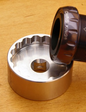 Chris King will also offer a corresponding machined aluminum installation toolfor the new bottom bracket whose fit is remarkably precise.