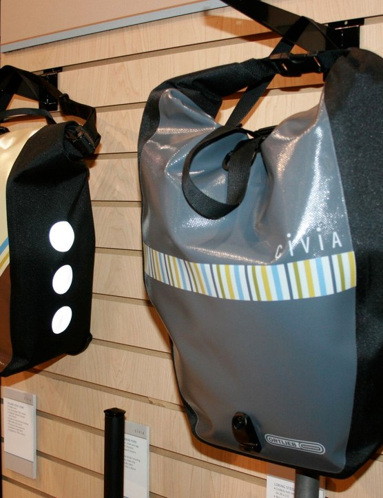 Civia has partnered with waterproof pannier makers Ortlieb.